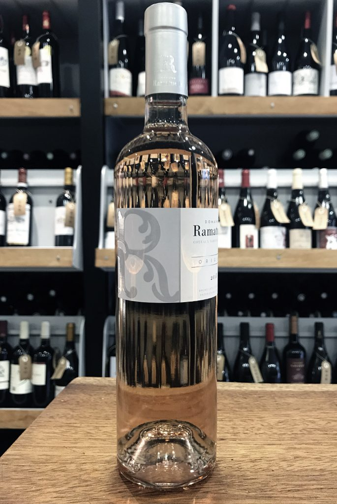 Sélection de vin rosé Ramatuelle Origine, cépage grenache, syrah, Caberbet Sauvignon, Cinsault