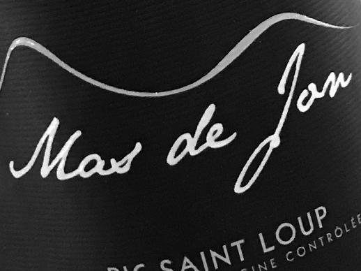 Sélection de vin rouge Mas de Jon Pic Saint Loup, cépage Mourvèdre, Syrah, Grenache